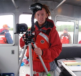 Steve Long with underwater camera system